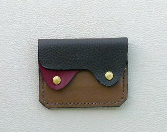 Earth Colors  Leather  Wallet, Coin Purse, Card Case, Small Leather Wallet