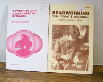 2 Beading Books Native American Beadwork How-To Crafts Beading