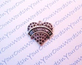 Personalized You Plus Me Equals Love Charm Crystal Antique Silver Heart Pendant Custom