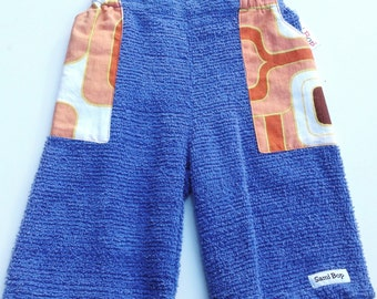 Chenille Shorts with Vintage Cotton Pockets - Size 3 (3T)