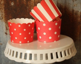 20 Red Cupcake Cups