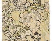 Alphonse Mucha, Peonies Shower Curtain