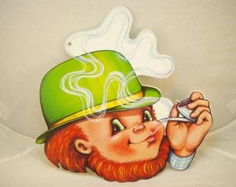 St. Patrick's Day Decoration - Leprechaun/Pipe - 1978 Beistle