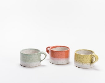 Short Dipped Mug in Speckled Stoneware