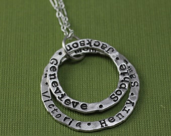 Grandmother's Name Necklace Personalized Sterling Silver Necklace