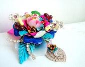 Pretty little flower - OOAK Neckpiece - Ready to ship xx