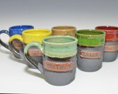 ONE 14-16oz Personalized Mugs, Mug set, Custom name mug, Made to order, scratch made, for her, for him, coffee cup