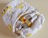 One Size Winnie The Pooh Fitted Cloth Diaper
