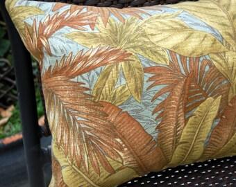 Catana Sun Porch Lumbar Pillow / indoor outdoor pillow / Tommy Bahama tropical pillow / patio porch pillow / Caribbean beach house pillow