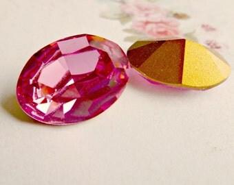 Swarovski 18x13mm Oval Article 4100 Rose Crystal Rhinestone Jewel (57-11-1)
