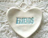 Bridesmade Gift Best Friend Small Heart Shaped Dish Trinket Dish Jewelry Dish