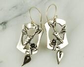 Warbler Earrings - Delicate Sterling Silver Bird Jewelry, Bird Earrings, Nature Jewelry, Hypoallergenic