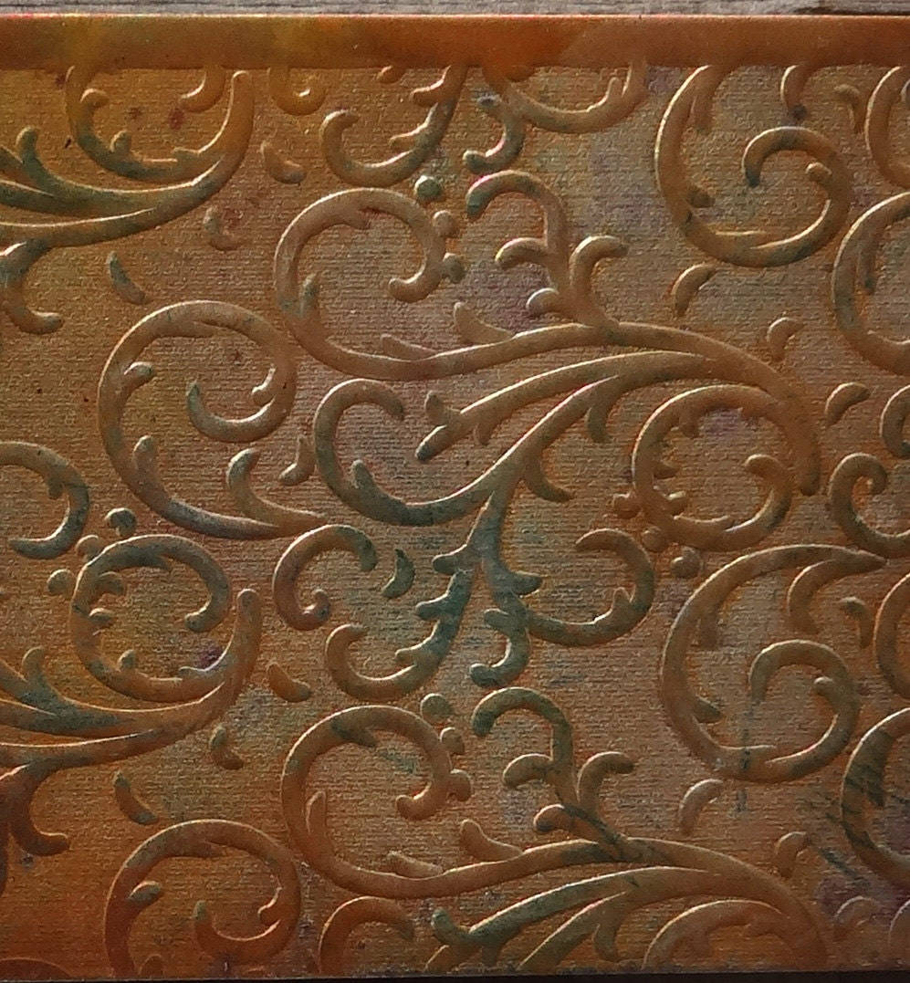 Textured Copper Sheet Metal Patina Sheet Metal By Studiosharon