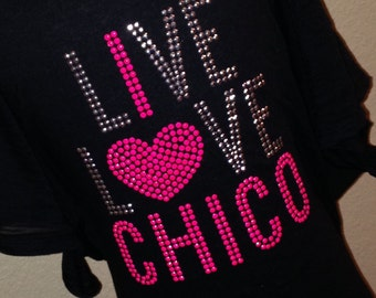 LIVE LOVE {Your Town or City}  rhinestud tee by 1286 Kids (formerly Daisy Creek Designs)
