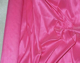 Dupioni  Silky Shantung Polyester Fabric Hot PInk   . wedding .crafts .suits .dresses..home decor