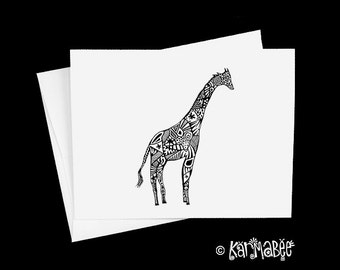 Giraffe Notecards