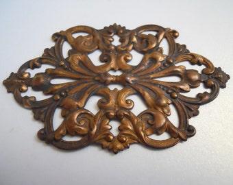 Large Vintage Victorian Brass Stamping