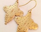 Surena Boho Chic Brass Filigree Pendant Earrings