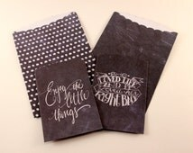 Chalkboard Treat Bags - 4 pcs - planner, scrapbooking, packaging, gift wrapping, card making