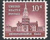 10c Independence Hall .. issue of 1956 .. Vintage Unused US Postage Stamp .. Pack of 10