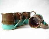 Pottery Mugs 13 oz. Set of 4