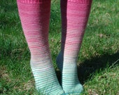 Watermelon Gradient Stripes Matching Socks Set, 2-50g Cakes, Greatest of Ease (dyed to order)