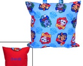 PAW PATROL PILLOW - Personalized Pillow for Travel - Chase, Marshall, Rocky, Rubble, Zuma!