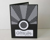 Celebrate Today Star-Burst Black and White Greeting Card Hand Made
