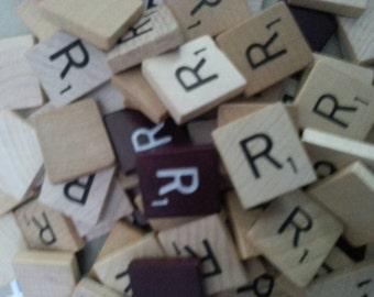 Letter R scrabble letter tiles 50
