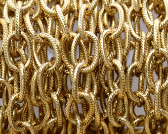 3 ft. Large Textured Cable Chain Antique Gold 9 x 6mm -  Nunn Designs Chain