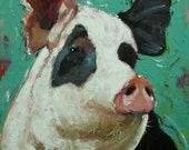 Pig painting 187 18x24 inch original oil painting by Roz