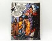 Sewn Comic Book Wallet - X-Men - Nightcrawler, Storm, Jubilee, Gambit, Professor X