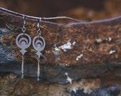 Crop Circle Diamond Earrings