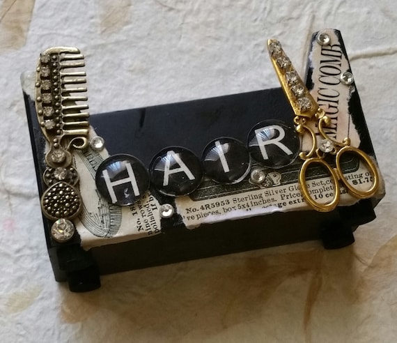 Vintage Hair Business Card Holder Scissors And Comb Gypsy