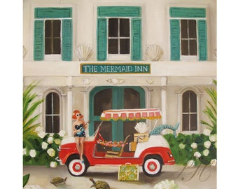 The Mermaid Inn. Art Print