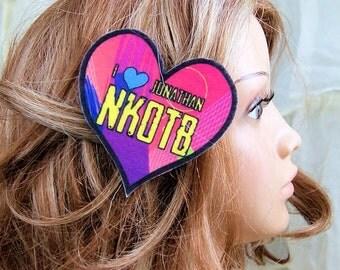 New Kids NKOTB I Love Jonathan Hair Clip MTCoffinz