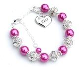 21st Birthday Charm Bracelet, 21st Birthday Gift For Her, 21st Birthday Jewelry, Coming of Age Gift, Milestone Birthday
