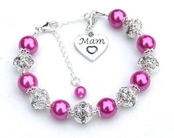 Mam Charm Bracelet, Gift for Mam, Mam Jewelry, Gift for Mother, Mammy Charm Bracelet, Unique Mothers Gift,