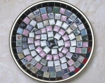 Treasury List - 1960s  Mid-Century Mosaic Tile Ashtray/Trinket Dish