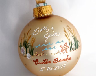 Outer Banks Beach Ornament - Personalized