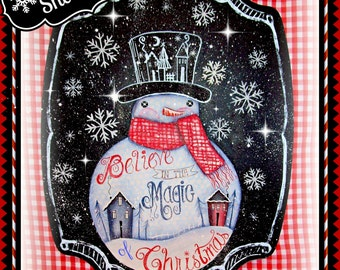Apple Tree Cottage Origanl Design E Pattern - Magic Snowman