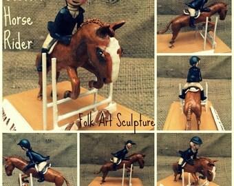 Customize your Horse Portrait clay folk art sculpture