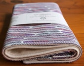 Organic Burp Cloth, Set of Two in PLUME; Grey and Purple Feathers Spit Happens Burp Cloths Gift Set of 2 by Organic Quilt Company