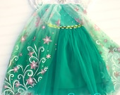 Frozen Fever, Elsa Dress, Birthday, Smash Session, Princess Party, Dress-Up, Elsa, Anna, Ready to Ship,  6T