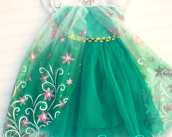 Frozen Fever, Elsa Dress, Birthday, Smash Session, Princess Party, Dress-Up, Elsa, Anna, READY TO SHIP, 2T, 3T, 4T
