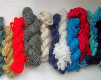 Grab bag assorted yarn 50g blue, turquoise, orange GBR12