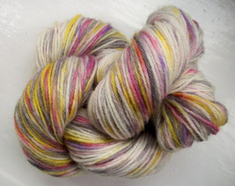 Sock yarn hand painted merino purple gold crocus 100g by SpinningStreak