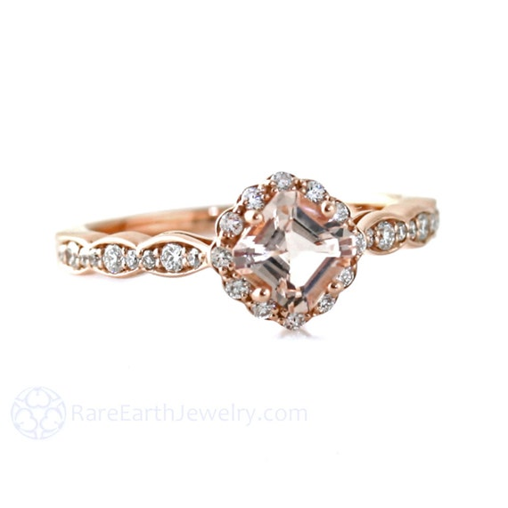 Morganite Ring Rose Gold Asscher Morganite Engagement Ring : il570xN779989638r3mg from www.etsy.com size 570 x 570 jpeg 26kB