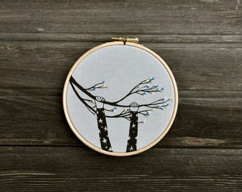 The Climber XVI - fiber art wall hanging