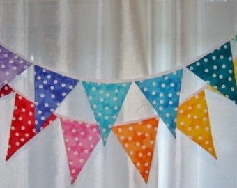 Custom Made to Order BUNTING Flags Pennant Banner Colors of Your Choice Cost Per Flag